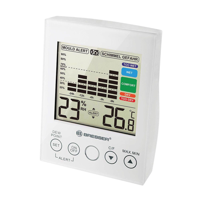 BRESSER / Mold Alert Hygrometer, Thermometer, 24 Hour Changes, Audible Alarm