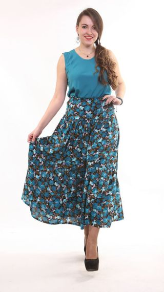 Staple skirt 3-tiered