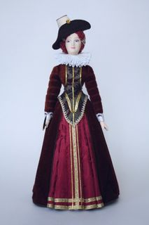 The noble costume of the early 17th century. Flanders.