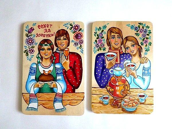 "Tver souvenirs / Chopping board ""Family"", 2 pcs."