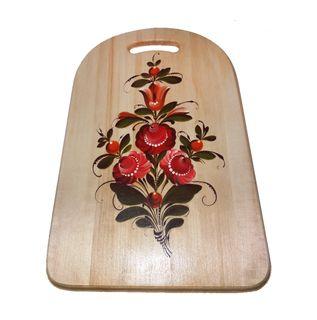 """Wooden kitchen board """"Kargopol painting"""" 43 cm"""