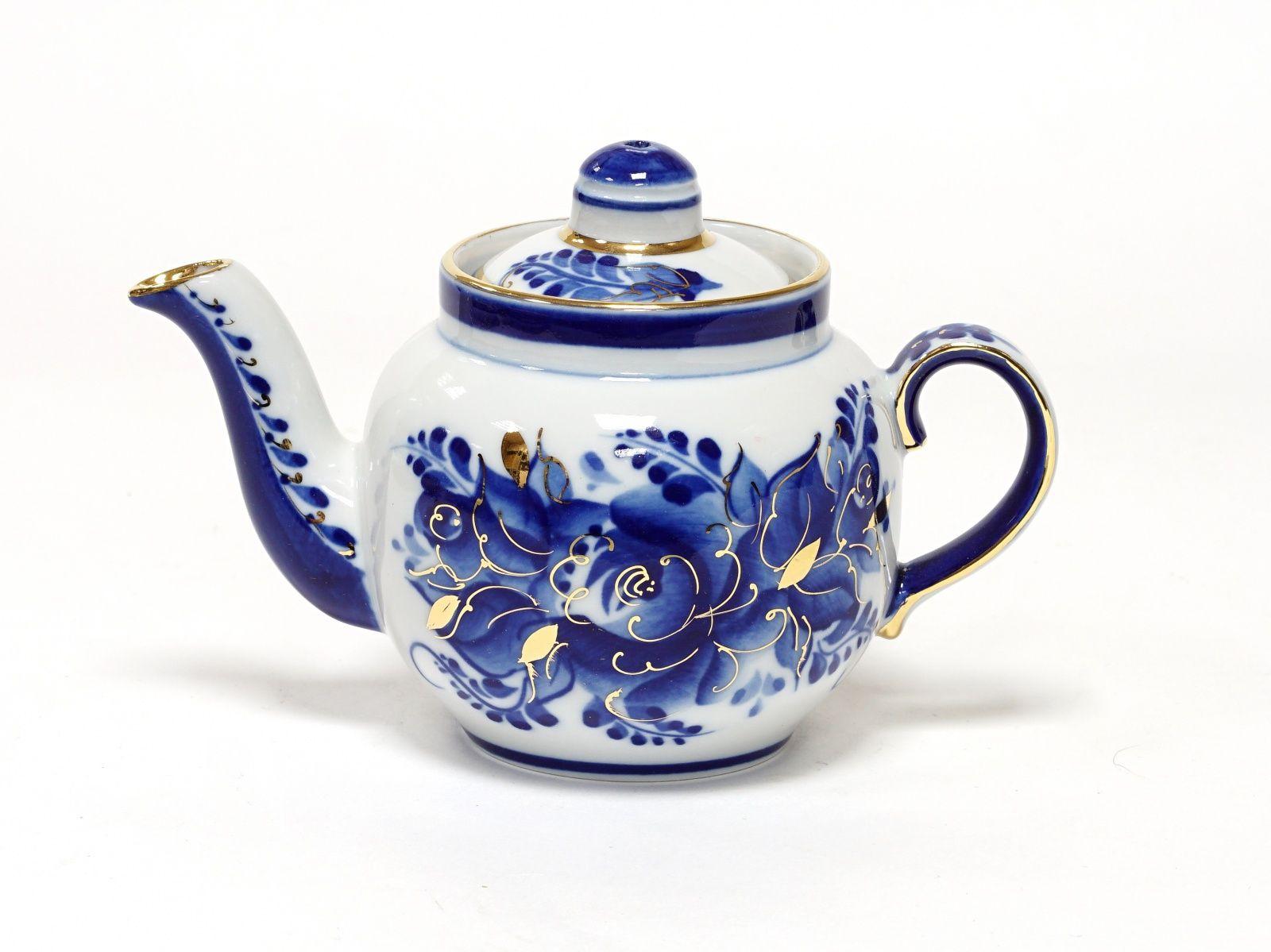 Dulevo porcelain / Teapot 350 ml Amber Rose Gold