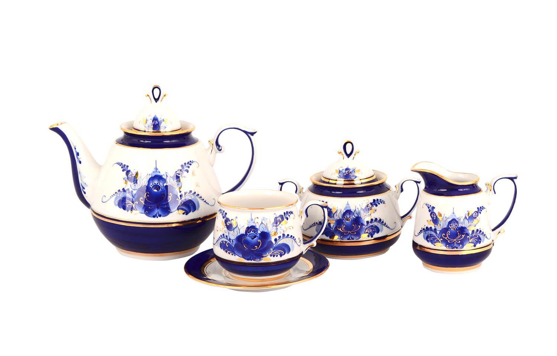 Dulevo porcelain / Tea set 15 pcs. Blooming Garden Gold