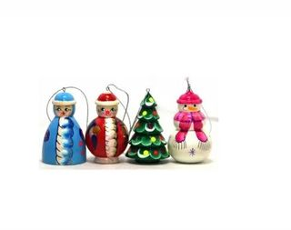 Set of Christmas decorations, 4 pieces