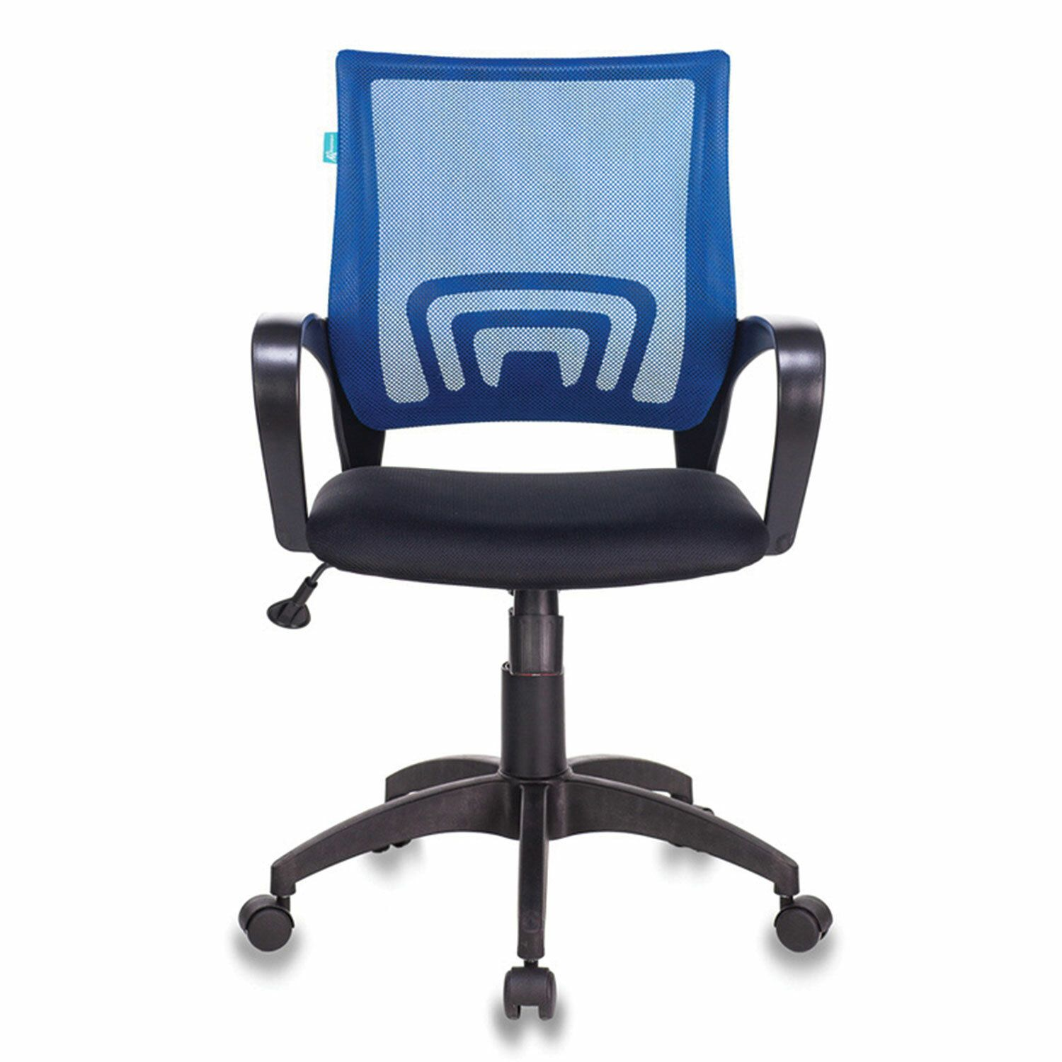 Chair CH-695N / BL / TW-11, with armrests, mesh, black / blue