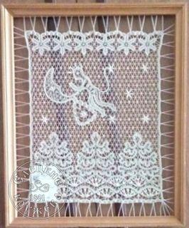 """Panels decorative lace """"Christmas souvenir"""""""