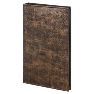 Photo album BRAUBERG for 156 photos 10x15 cm, smooth skin, with rings, brown