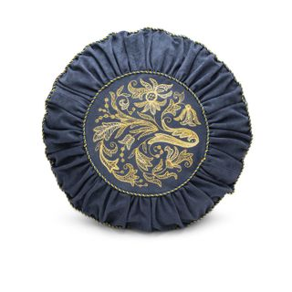 """Cushion sofa """"Florence"""" blue with gold embroidery"""