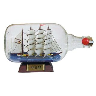 "Ship in bottle ""Passat"", length 27.5 cm"