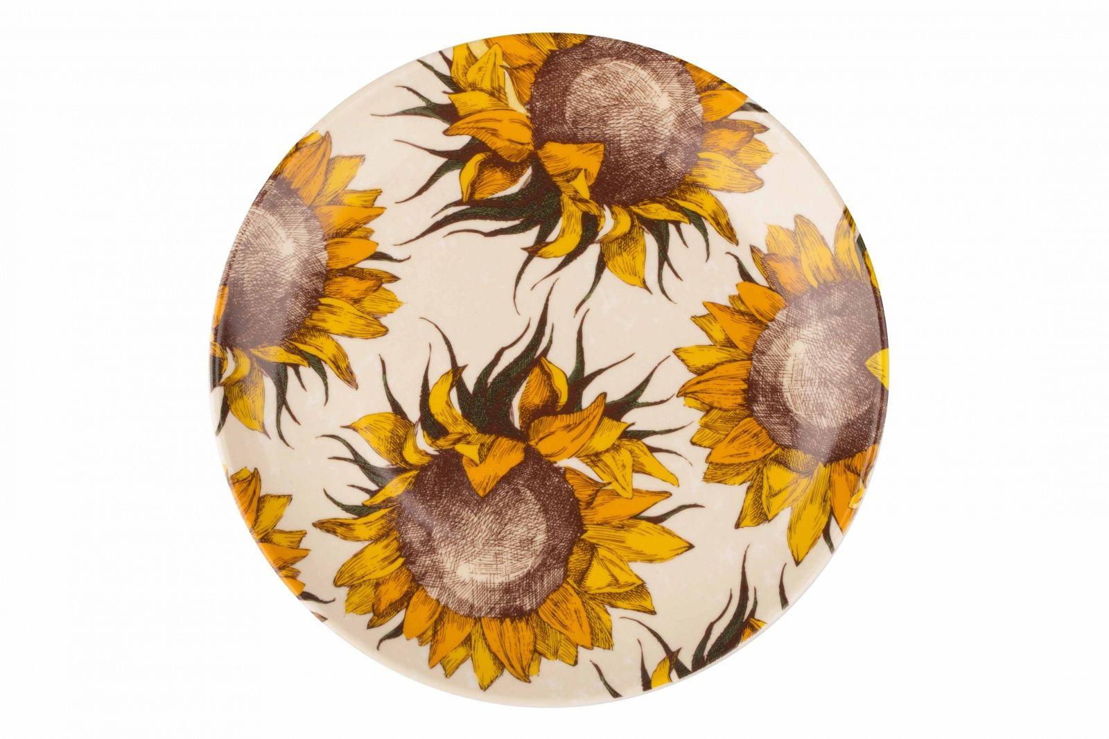Dulevo porcelain / Plate 210 mm Sunflowers (Ceramics)