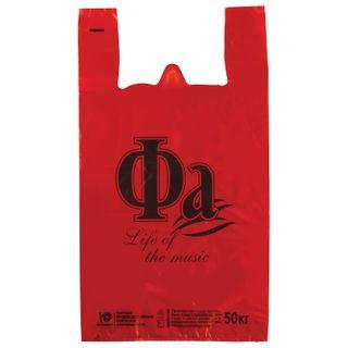 "JUPLAST / Bags ""undershirt"", SET 100 pcs., 30 + 16x55 cm, HDPE, ""FA"", RED, 25 microns"