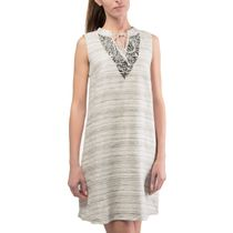 Dress women 'Grisaille' gray with silk embroidery