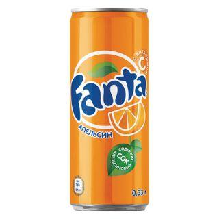 FANTA / Carbonated drink Fanta, 0.33 l