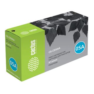Toner cartridge CACTUS (CS-CE505A) for HP LaserJet P2035 / P2055, yield 2300 pages.