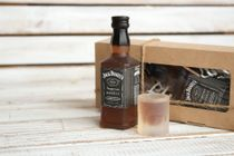 Author's soap - mens set Jack Daniels - bottle and glass of whiskey