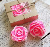 Handmade soap rose pink