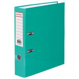 Folder-Registrar BRAUBERG, laminated, 80 mm, light green