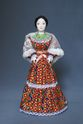 Doll gift porcelain. Cossack.Traditional summer outfit. Late 19th - early 20th century. Russia. - view 1