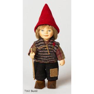 Birgitte Frigast / Porcelain doll Bertil, 22 cm