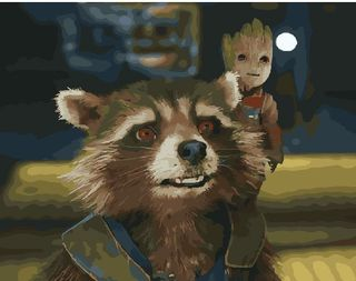 Painting by numbers Guardians of the galaxy 40x50 cm