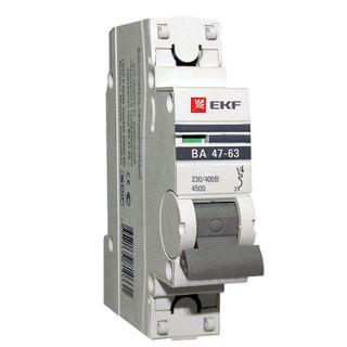 Circuit Breaker 1P 16A (C) 4,5kA VA 47-63 EKF PROxima