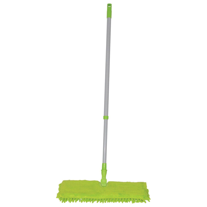 LYUBASHA / Double-sided mop 40 cm, telescopic handle 120 cm, thread 1.6 cm, microfiber 40 cm