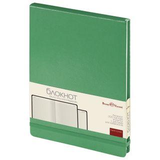 Notebook A5 (144 x212 mm), 100 sheets, hard cover, balacron, opening up, BRUNO VISCONTI, Green