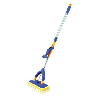 LIMA / Self-wringing mop, butterfly mechanism, sponge / microfiber nozzle 28 cm, telescopic handle 115 cm