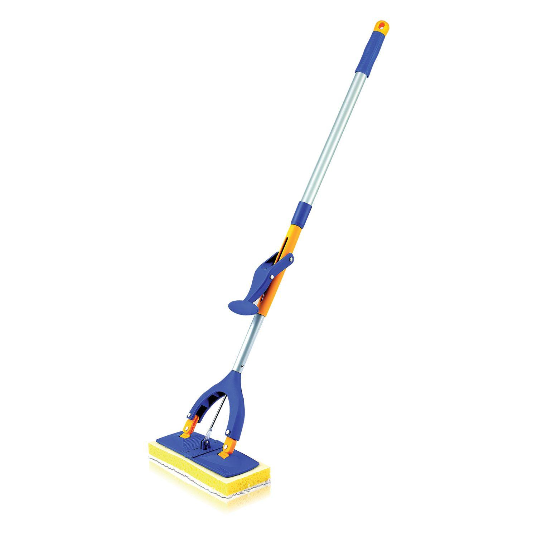 LIMA / Self-wringing mop, butterfly mechanism, sponge / microfiber nozzle 28 cm, telescopic handle 115 cm