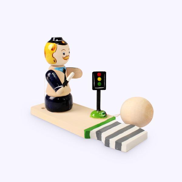 Bogorodsk toy / Wooden souvenir 'Inspector'