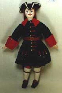 Doll pendant souvenir porcelain. Soldiers in the uniform of the Preobrazhensky regiment. 1712-1720-e g. Russia.