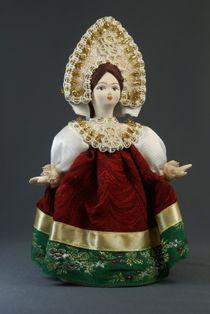 Doll gift porcelain. Dancer. Girl in a festive dress. Russia. 19th century
