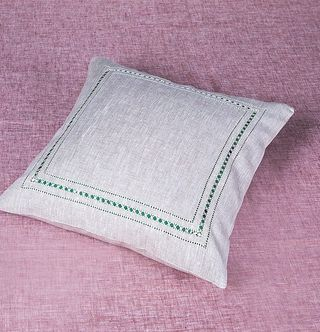 PILLOWCASE-DUMA FROM FLAX WITH EMBROIDERY