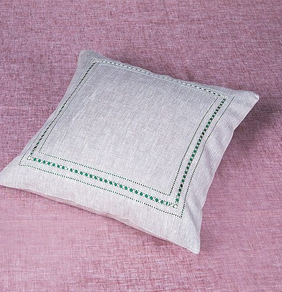 PILLOWCASE-DUMA FROM FLAX WITH EMBROIDERY 'TRADITION'