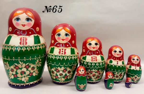 "Vyatka souvenir / Painted, inlaid nesting doll 8 ave. ""Vasilisa"""