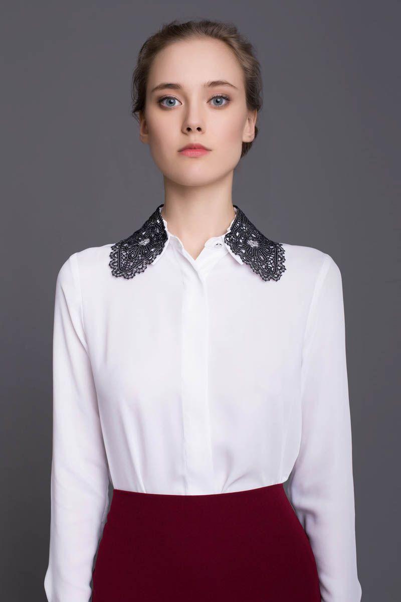 Lace shirt collar #19