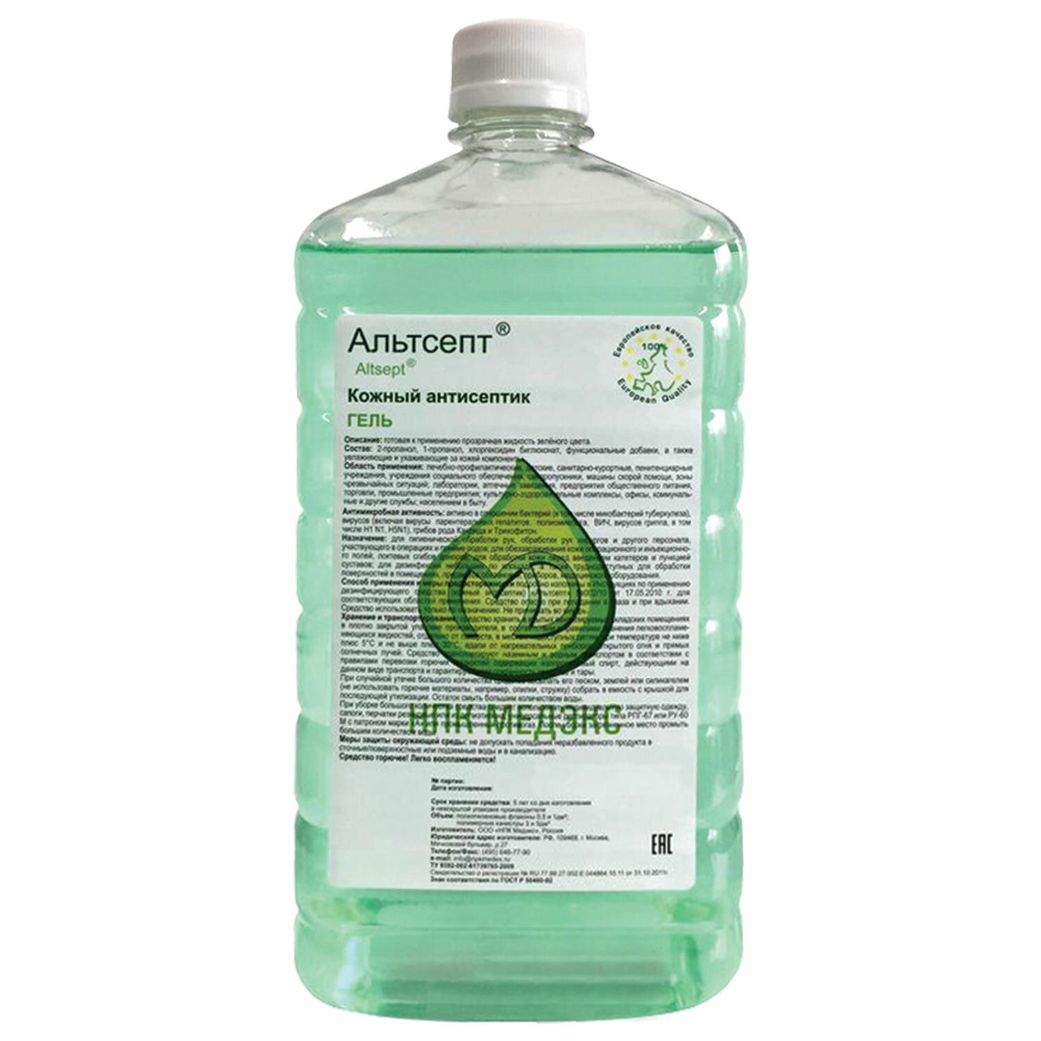 ALTSEPT / Antiseptic, skin disinfecting alcohol-containing 70% gel, 1 l, lid