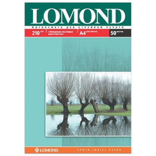 Photo paper for inkjet print A4 210 g/m2, 50 sheets, two-sided glossy/matte LOMOND