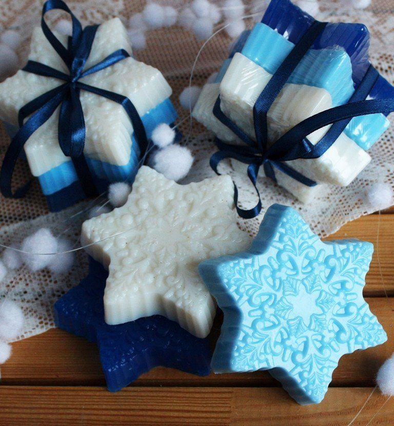 Snowflake gift set handmade soap