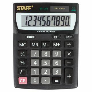 Desktop calculator STAFF STF-1210, COMPACT (140x105 mm), 10 digits, dual power supply