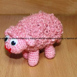 Molly the Sheep is a soft toy