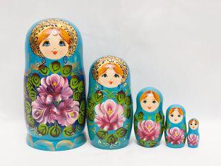 Matryoshka 5 seats Zhostovo - Souvenir