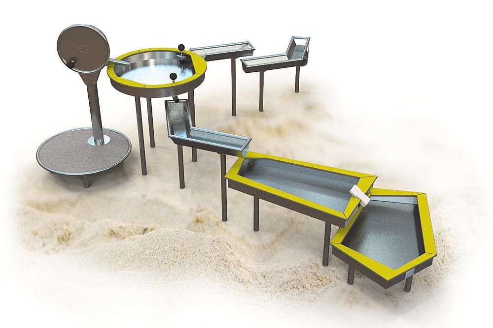 "Hercules / Children's playground for games with sand and water ""Delta"""