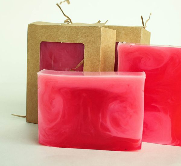 Raspberry Apricot - handmade soap with the aroma of juicy raspberries and ripe apricot