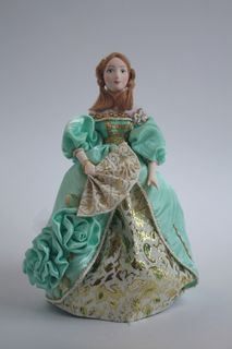 Doll gift porcelain. A lady in a ball gown.The 1830-s Europe