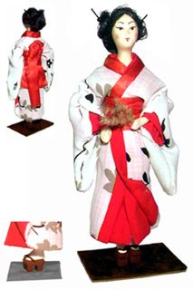 Doll gift. Geisha. Japan.