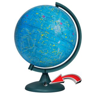 The celestial globe with a diameter of 250 mm with backlight battery powered (batteries not included)
