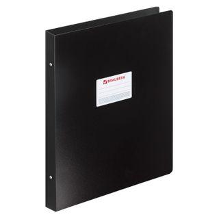 Folder on 4 rings LARGE A3 FORMAT, VERTICAL, 30 mm, black, 0.8 mm, BRAUBERG