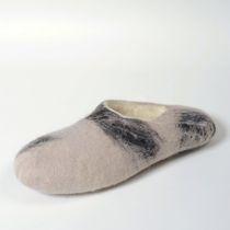 Men's slippers 'White Night' handmade