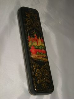 """Palekh lacquer miniature. Stash """"Moscow"""""""